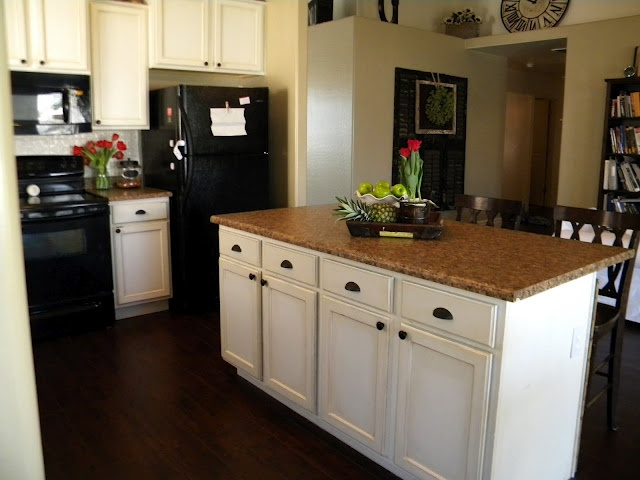 Pin by vicki anderson on for c 39 s and d 39 s house pinterest for Behr white paint for kitchen cabinets