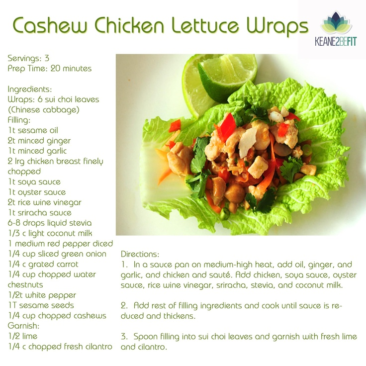 More like this: cashew chicken , chicken lettuce wraps and lettuce .