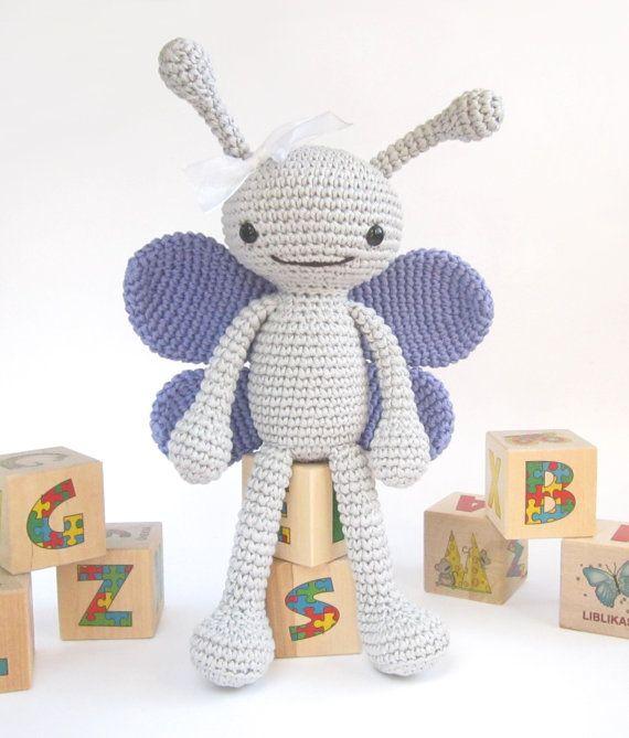 Amigurumi Butterfly Tutorial : Butterfly CROCHET PATTERN - Amigurumi butterfly - Crochet ...