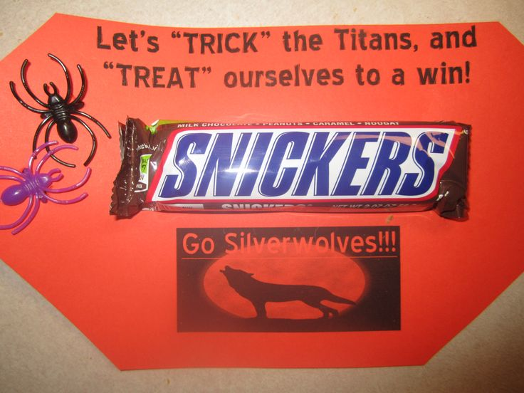 Football Team Halloween Treat...but the Titans will be winning! | Her ...
