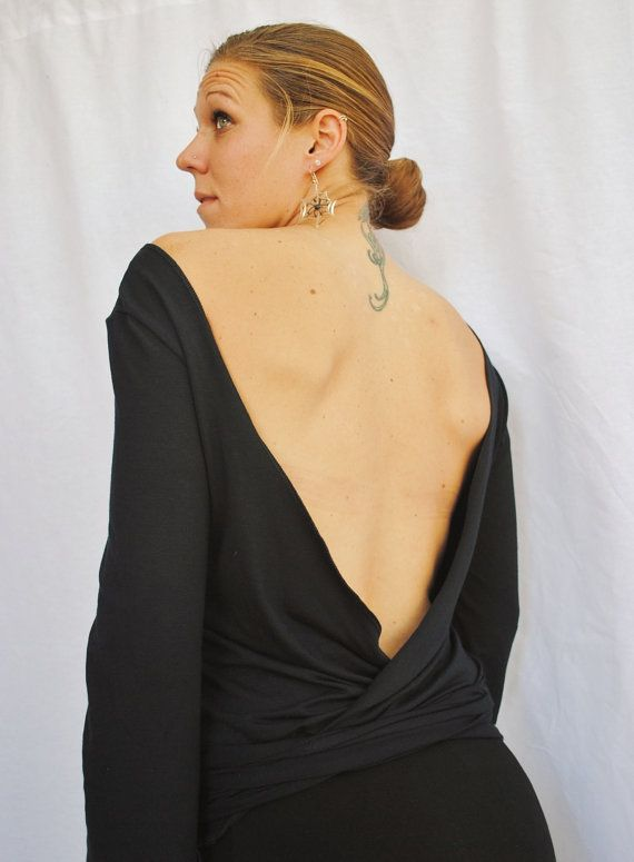backless wrap top womens clothing organic knit by finethreadz $ 40 00