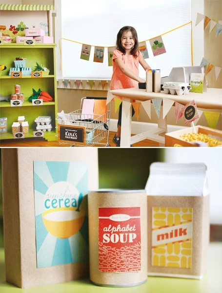 Pretend Play Grocery Store Printables