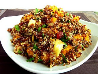 Butternut Squash and Apple Quinoa with Cranberries and Pecans