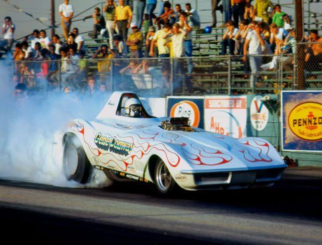Funny Car Garage : Gene conway s corvette funny car burnout my dream garage