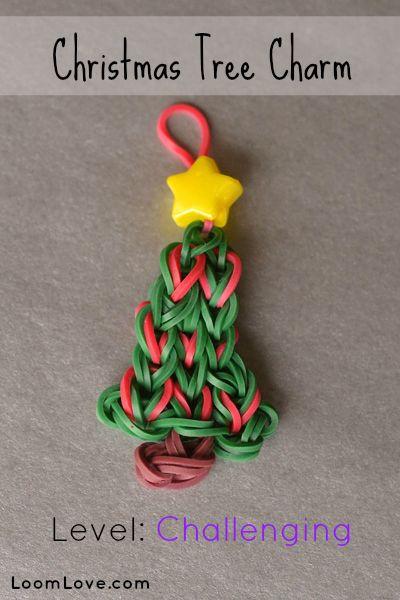 How to Make a Christmas Tree Charm #rainbowloom