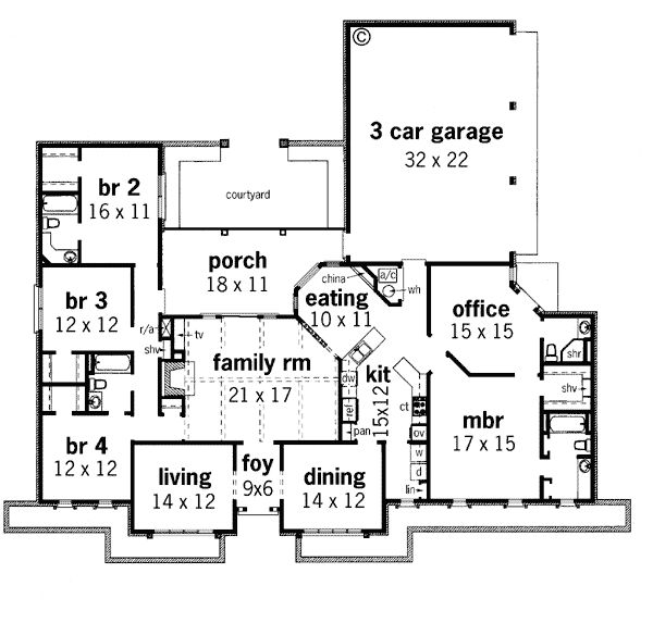 Contemporary prairie style southwest house plan 65606 Contemporary prairie style house plans