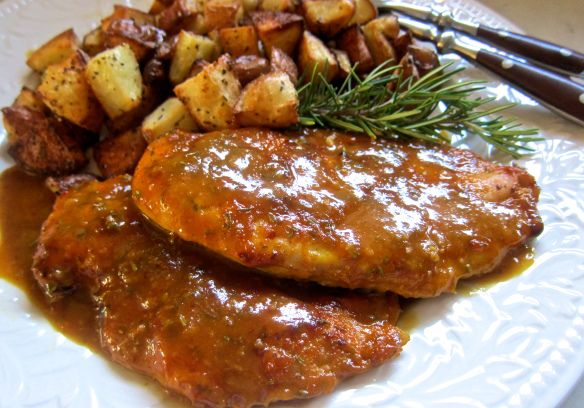Orange rosemary chicken with roasted potatoes