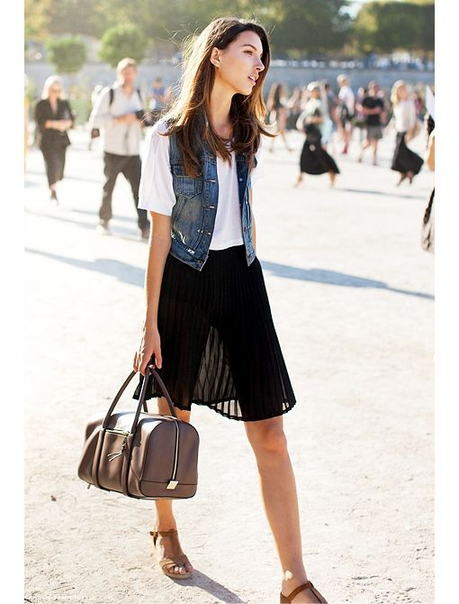 Current Obsession: Accordion Pleat Skirts - Celebrity Style and Fashion from WhoWhatWear
