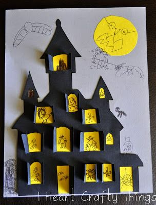 I HEART CRAFTY THINGS: Haunted House Craft