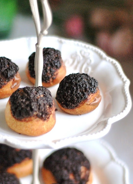 Cookie Topped Chocolate Cream Puffs | Indulge | Pinterest