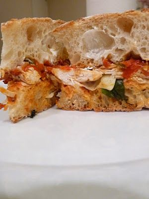 Epicurean Mom:Chicken Mozzarella Sandwiches with Sun-dried Tomato ...
