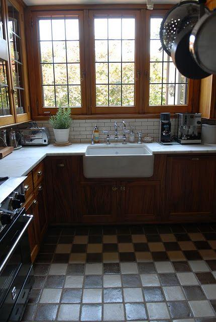 Beautiful 1920s kitchen kitchen inspiration pinterest for 1920 kitchen floor tile