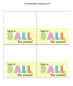 It is a photo of Smart Have a Ball This Summer Printable