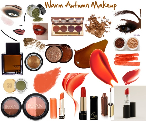 """Warm Autumn Makeup"" by jeaninebyers ❤ liked on Polyvore"