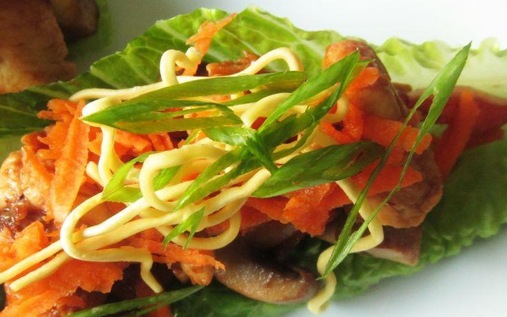 Hoisin Sesame Chicken Lettuce Wraps | eats... | Pinterest