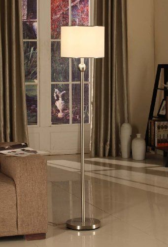 Ikea Algot Closet System Reviews ~ Kings Brand Brushed Nickel & Fabric Shade Standing Floor Lamp by Kings