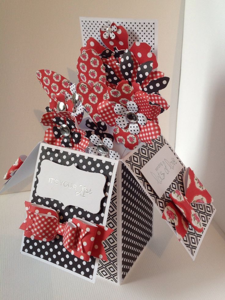 Card designed by Julie Hickey using Pop Up Boxes.