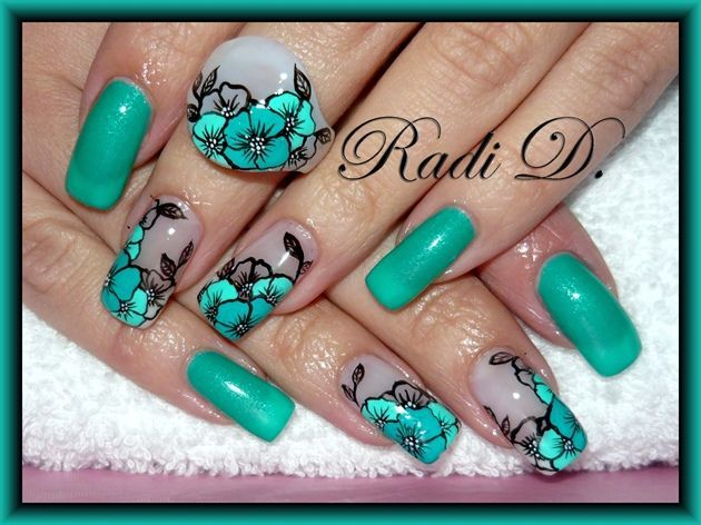 Fresh flowers - Nail Art Gallery by NAILS Magazine