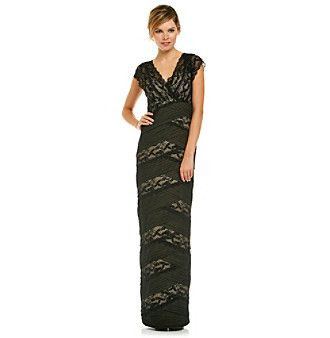 Mother of the bride dress marina long banded lace cocktail gown