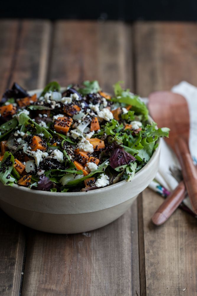 Sweet Potato and Quinoa Salad with Soft-Boiled Eggs | Recipe