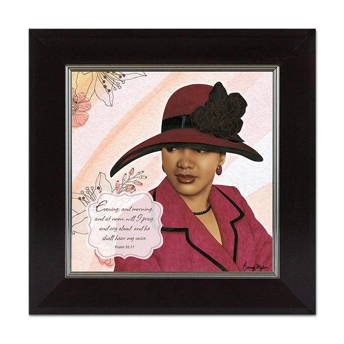 psalm 55 17 african american framed art home decor