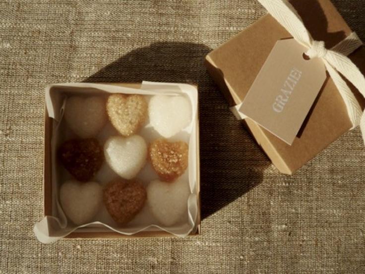 DIY heart shaped sugar cubes