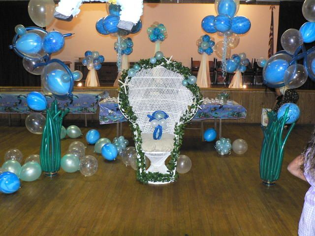 like the seaweed balloons under the sea baby shower pinterest