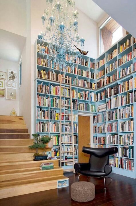 i like the painted book shelves