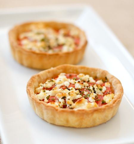 French Tomato Tartlets with Goat Cheese and Herbs...perfect with a ...