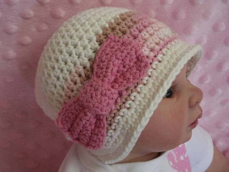 Crochet Pattern For Baby Cloche Hat : Baby Crochet Hat Pattern - Autumn Cloche with a Bow ...