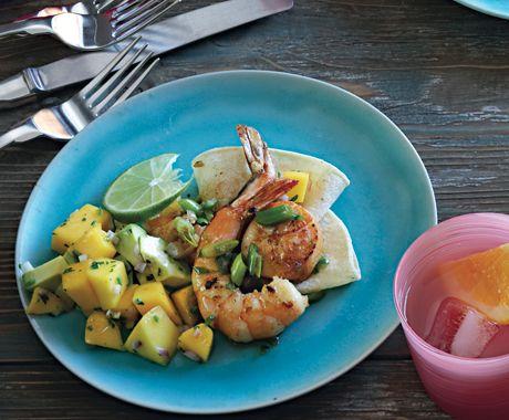 mango salsa shrimp cocktail with mango avocado salsa recipes dishmaps ...