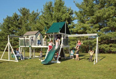 Pin by cathy hagerman on playhouse swing pinterest for Swing set bridge