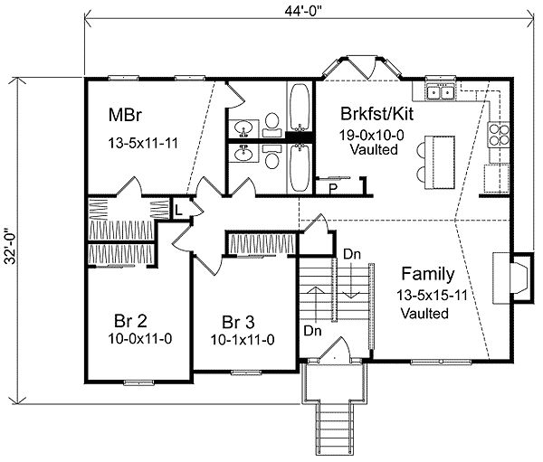 Split Level House Plans Plan W22003sl Narrow Lot Split