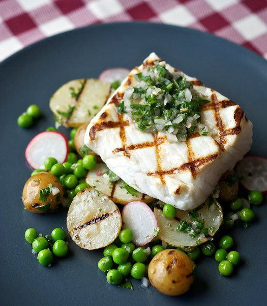 Greg Denton's halibut with mint chimichurri would be a welcome ...