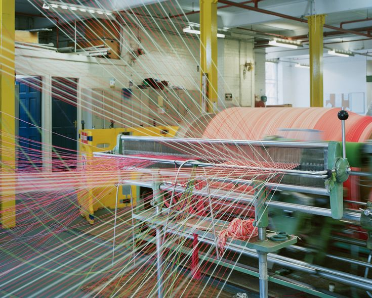 Fabric Being Made In The Kvadrat Factory Colour Pinterest