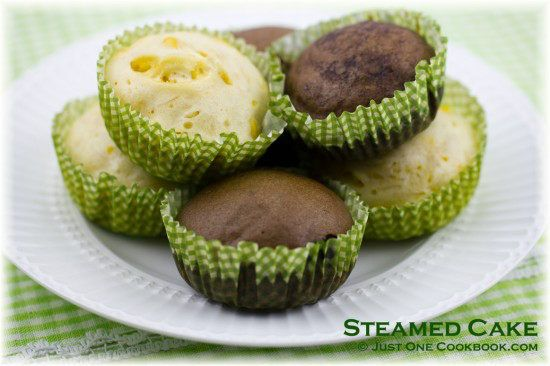 Steamed Cake Recipe | JustOneCookbook.com | Things to cook | Pinterest