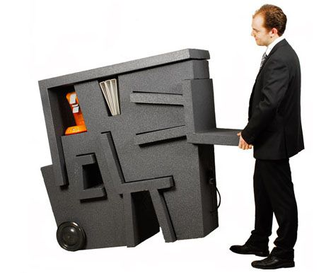 mobile office furniture idea small space living pinterest