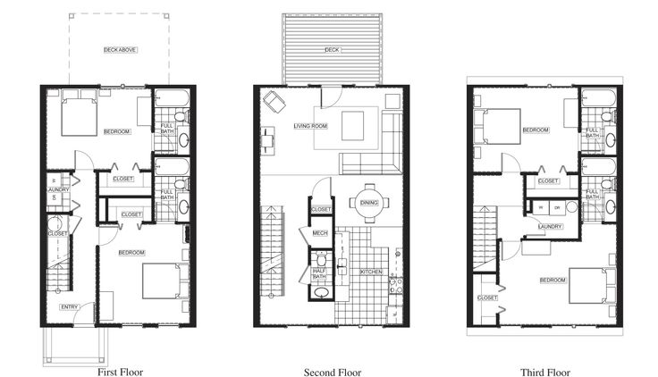 Charleston townes floor plan floor plans pinterest for Charleston floor plan