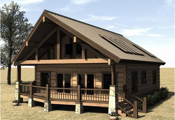Cabin house plans covered porch cabins cottages Covered porch house plans