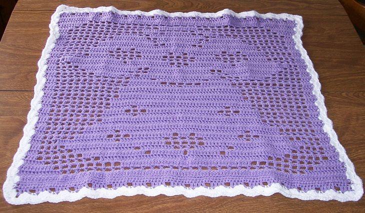 Knitting Pattern For Angel Blanket : Angel Baby Blanket Crochet or Knit Pinterest