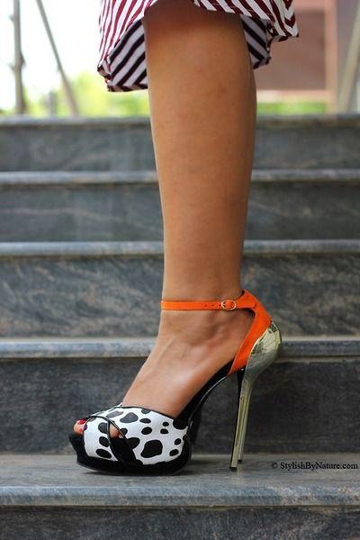 Metallic Heels - Milanoo