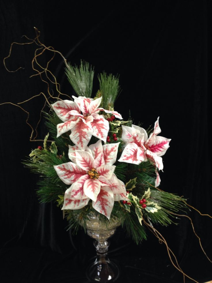 Pin by floristry kiev on poinsettia pinterest for Poinsettia arrangements