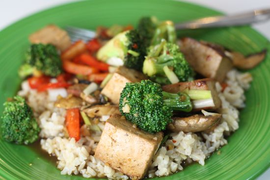 tofu stir fry tofu mustard greens and shiitake mushroom stir fry stir ...