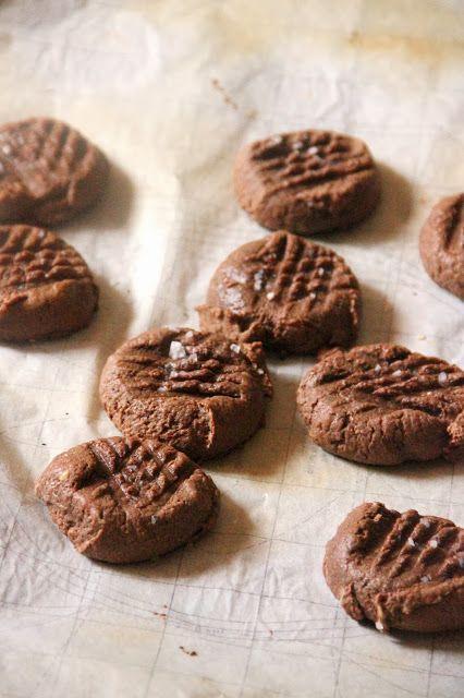 salted chocolate peanut butter cookies   yum   Pinterest