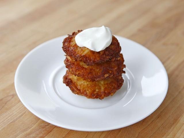 Crispy Panko Potato Latkes...sooo yummy. Reminds me of my Grandma's :)