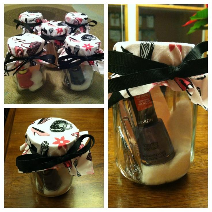 Manicure jars/ gift ideas! | gift ideas | Pinterest