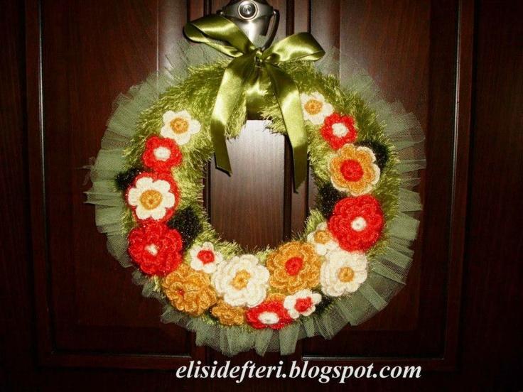 Adorno en puerta | Tejidos | Pinterest