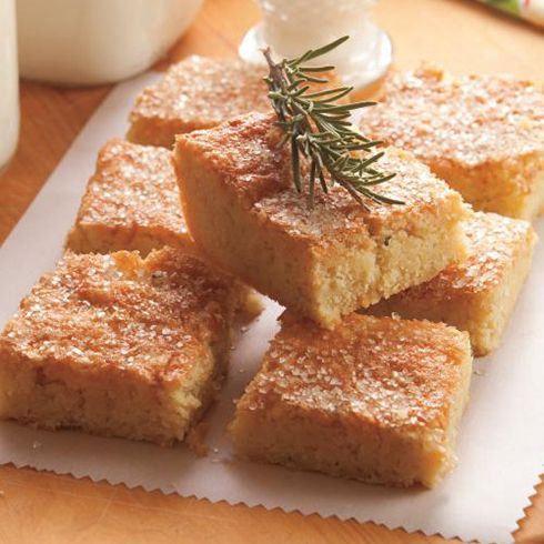 Rosemary Almond Shortbread Bars. Savory herbs combine with the sweet ...
