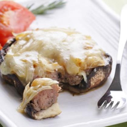 Turkey Stuffed Portobello Mushrooms | Din-Din | Pinterest