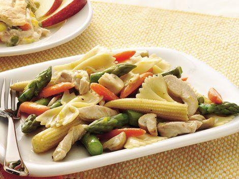 Lemony Turkey Primavera Skillet - Asparagus, carrots and turkey breast ...